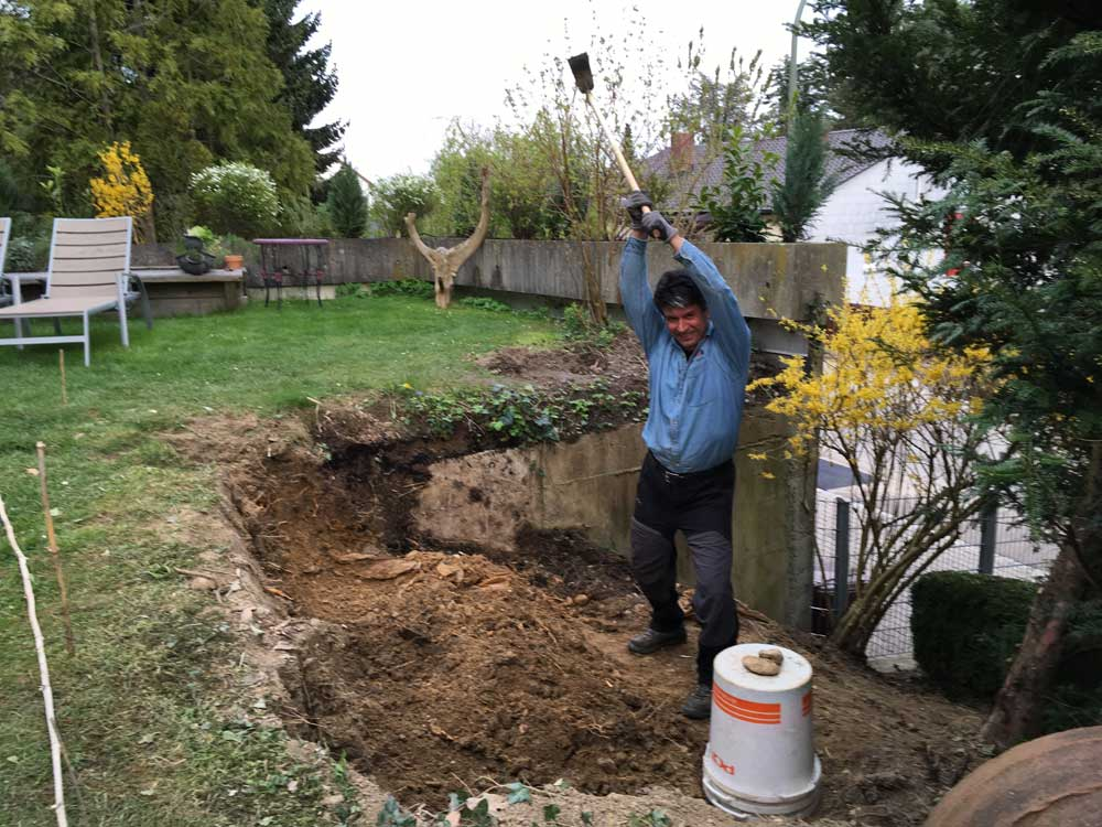 Manuelles Ausgraben