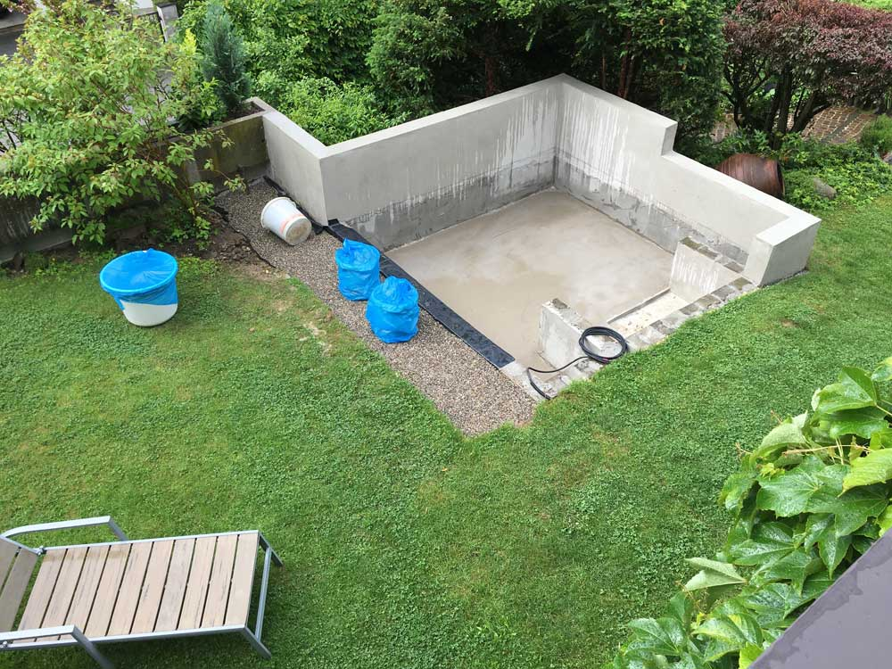Rohbau für Whirlpool