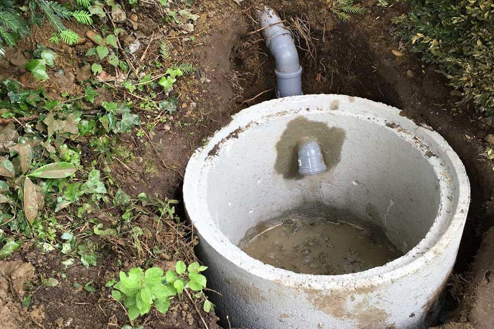 Sickerschacht für Wasserablauf